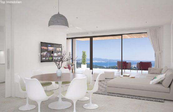 Palma Genova. Luxuswohnung in Palma mit Garten und Panoramablick auf das Meer | Ref.: 12213