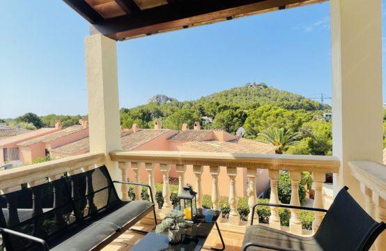 Doppelhaushälfte mit Meerblick in ruhiger und gepflegte Anlage in Santa Ponsa   Ref.: 12856